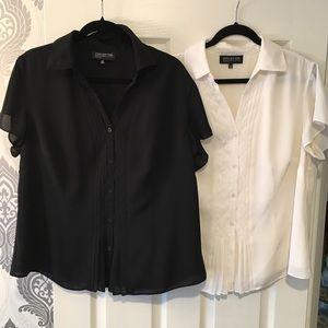 2 Plus size Jones New York blouses. 16W